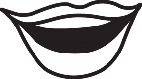 Lips Clipart Black And White Clipart Panda Free Clipart Image.