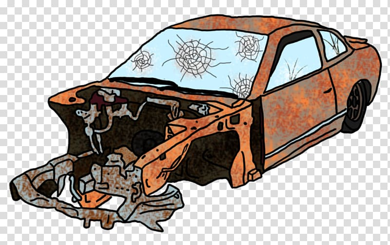 Cartoon Traffic collision , Cartoon Car Wreck transparent.