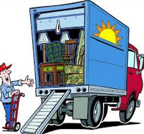 Moving Van Clipart.