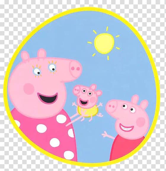 Daddy Pig Piglet Mummy Pig Animated cartoon, A pig transparent.