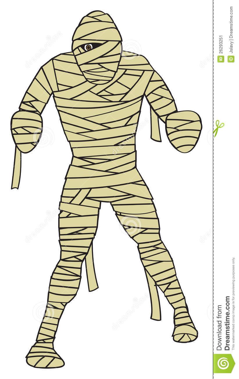 Cartoon Mummy stock vector. Illustration of halloween.