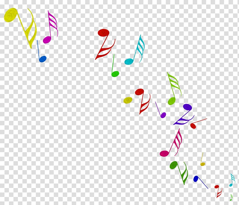 Multicolored music notes , Musical note Animation, Color.