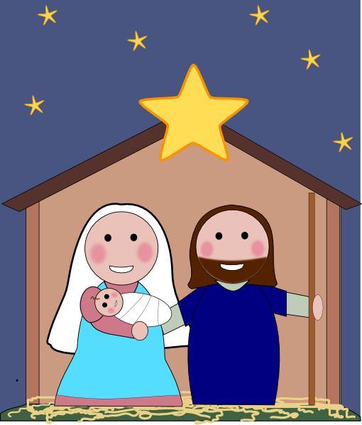 Nativity Scene Clip Art at Clker.com.