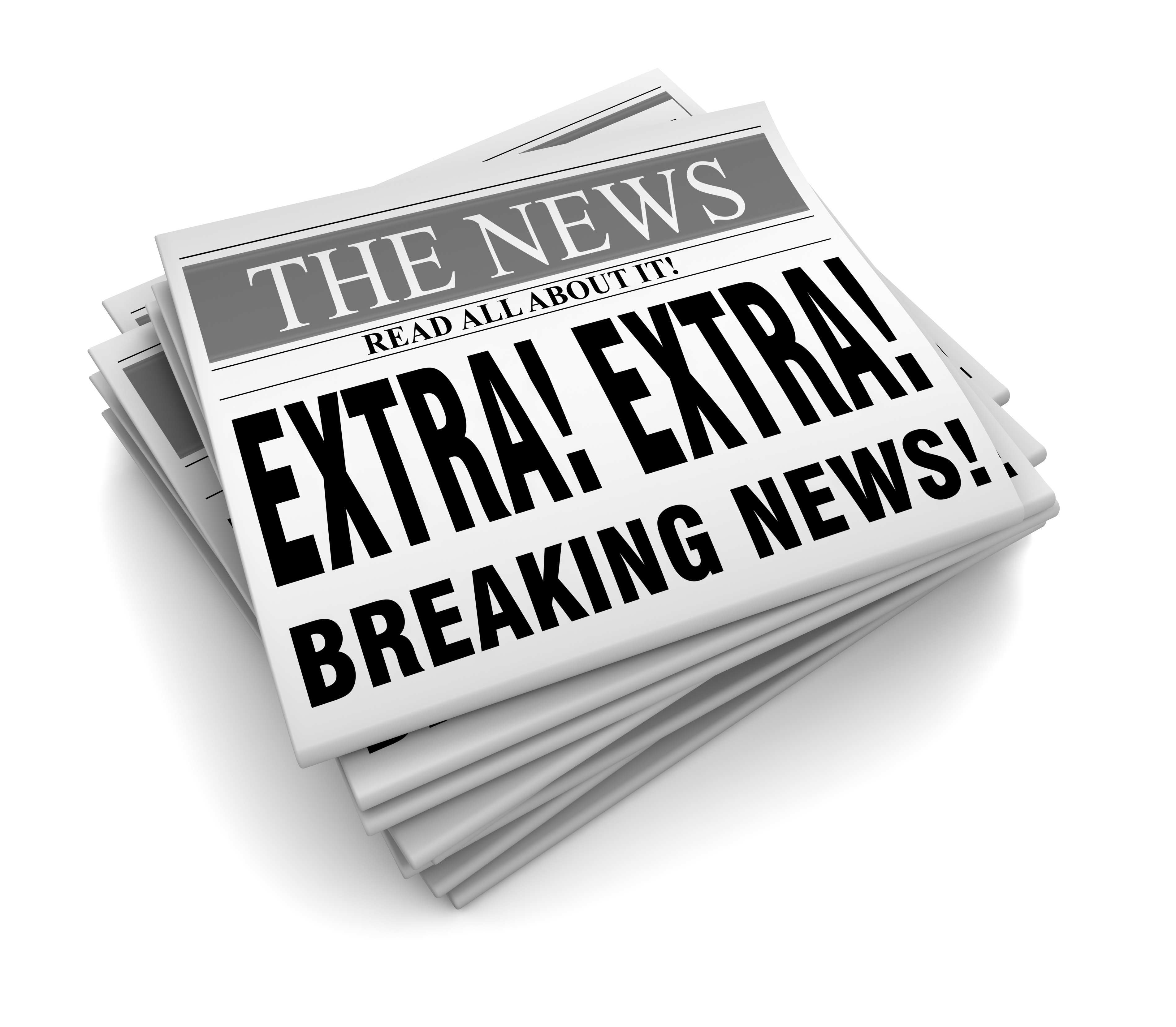 Stretch Breaking News Animated Clipart.