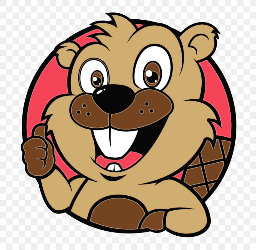 Cartoon Clip Art Animated Cartoon Brown Bear, PNG.