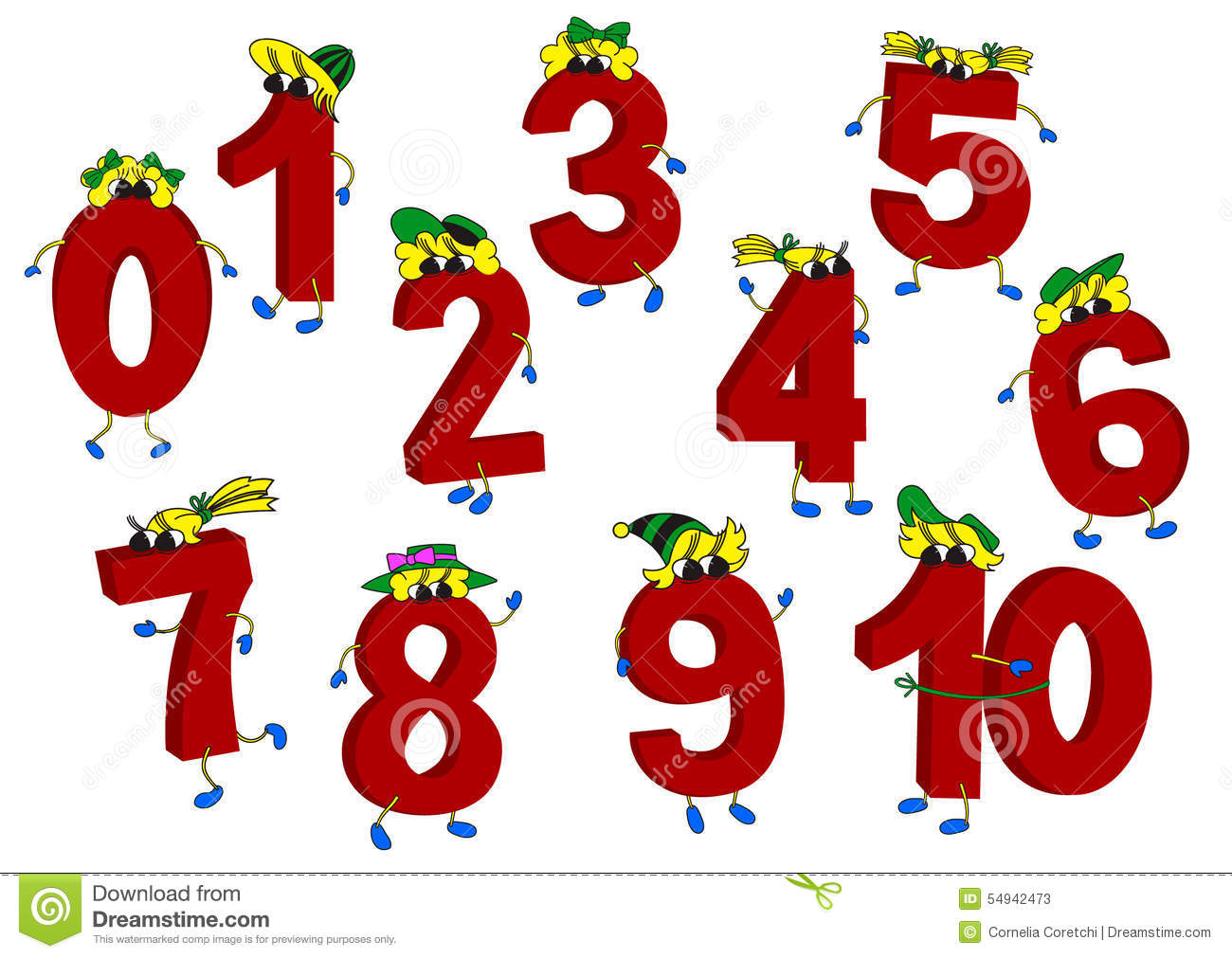 Animated Number Six Clip Art.