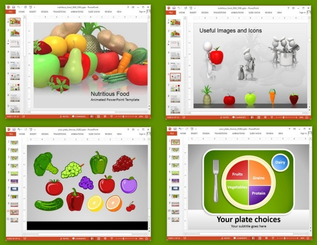 Animated Nutrition Presentation Templates For PowerPoint.