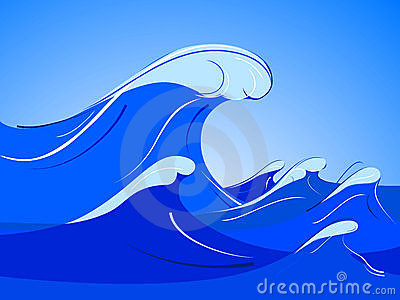 Animated ocean waves clipart.
