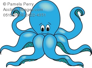 Cartoon Octopus Royalty.