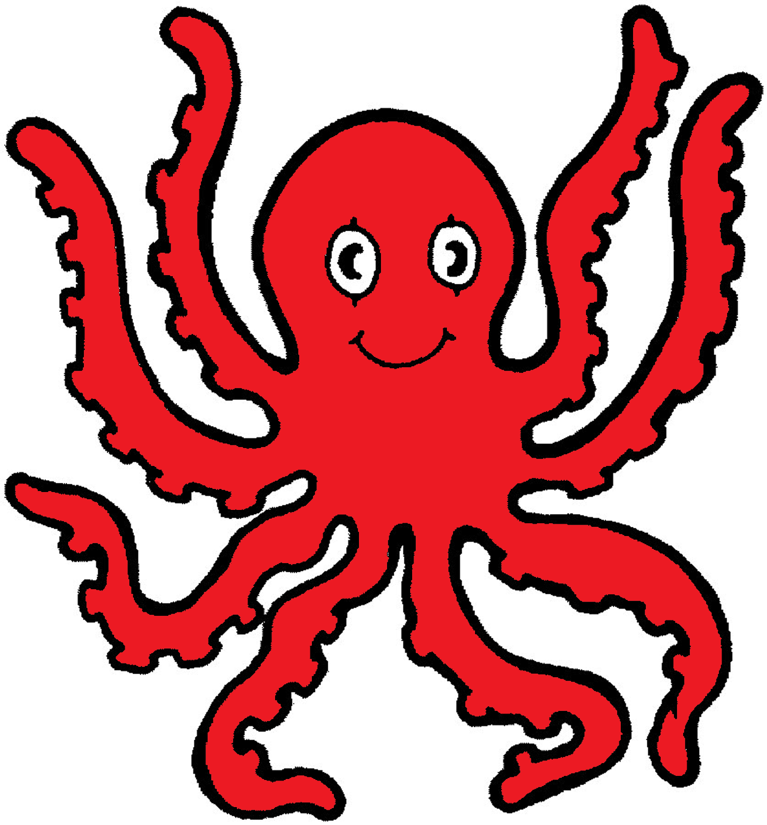 Animated octopus clipart.
