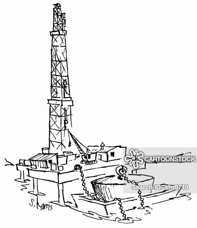 Oil Rig Cartoons and Comics.