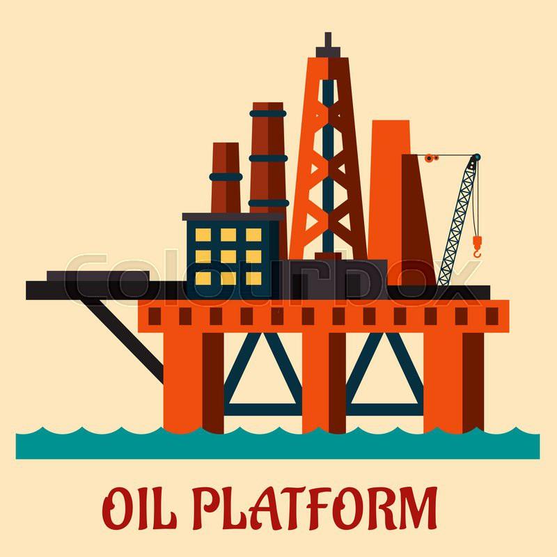 Oil Rig Vector at GetDrawings.com.