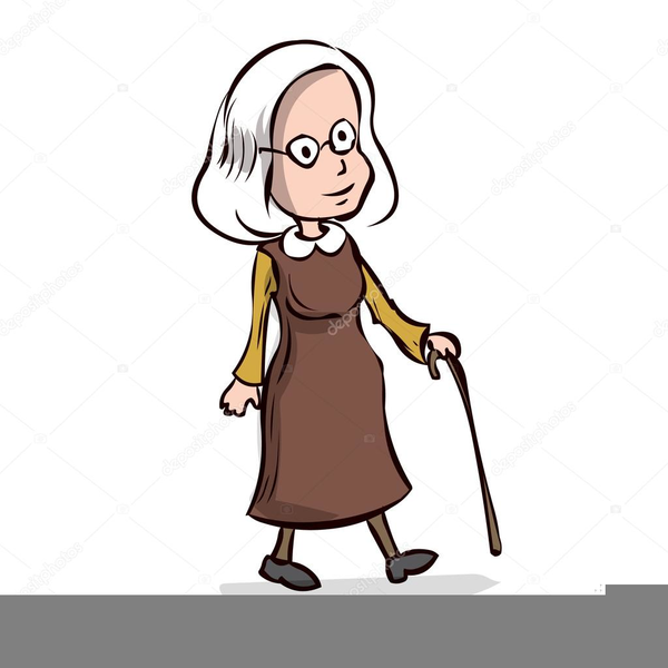 Old Lady Cartoons Clipart.