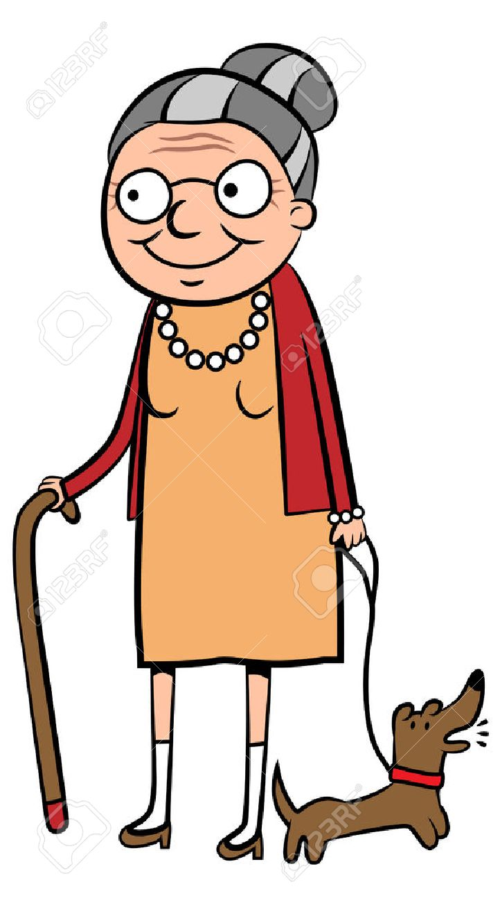 959 Old Woman free clipart.