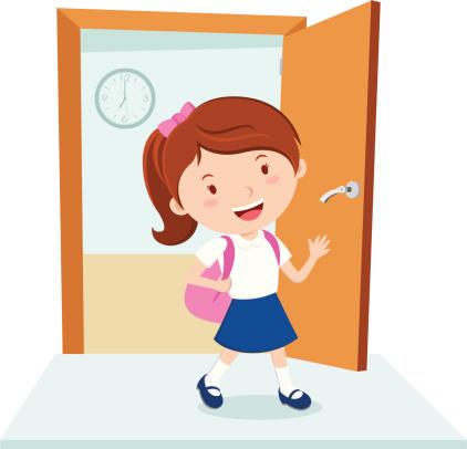 Animated Open Door Clipart.
