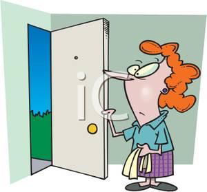 Showing post & media for Cartoon house with door open.