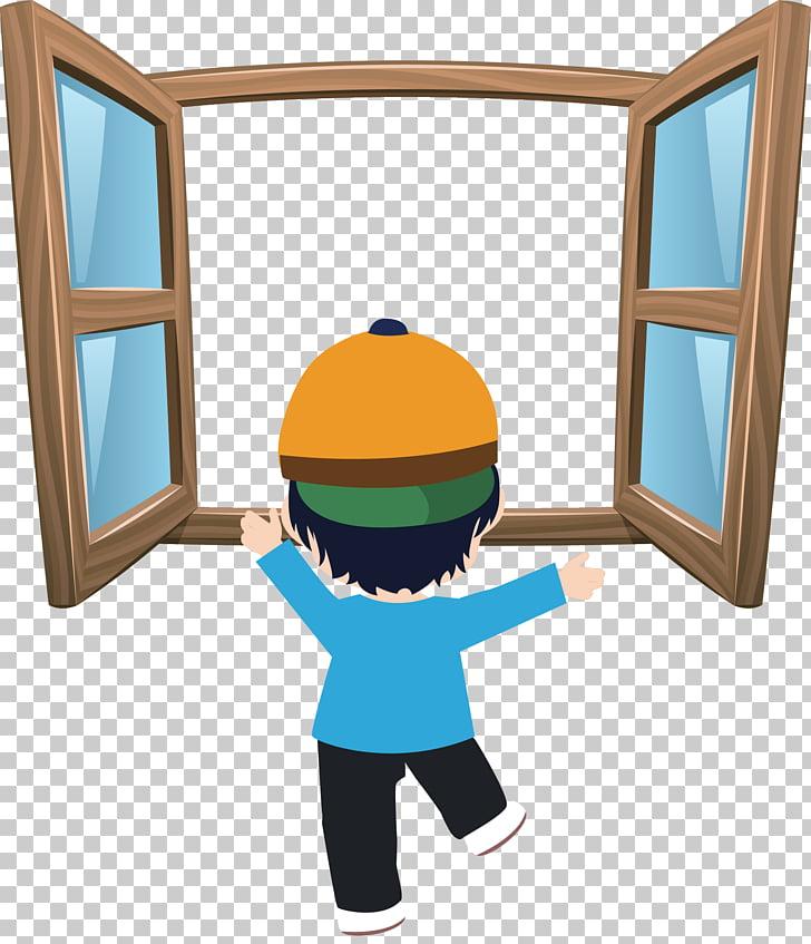 Window Cartoon , hand.