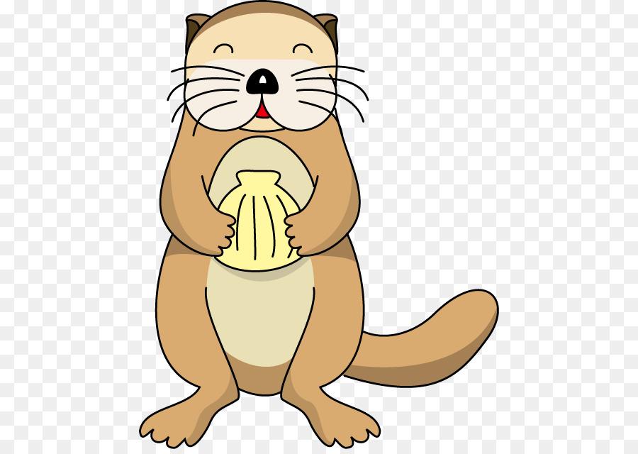 Otter Cartoon clipart.