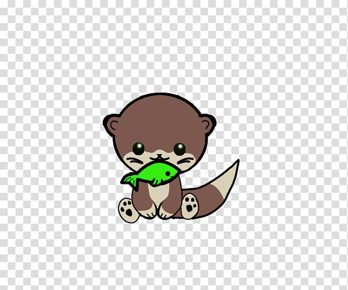 Sea otter Drawing Cuteness Chibi Cartoon, otter transparent.