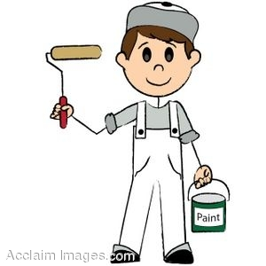 Residential Painting Clipart.