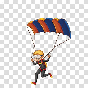 Parachute Cartoon PNG clipart images free download.