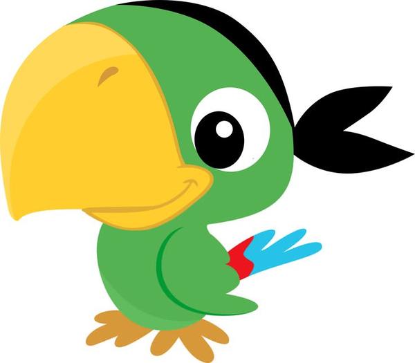 Cartoon Parrot Clipart.