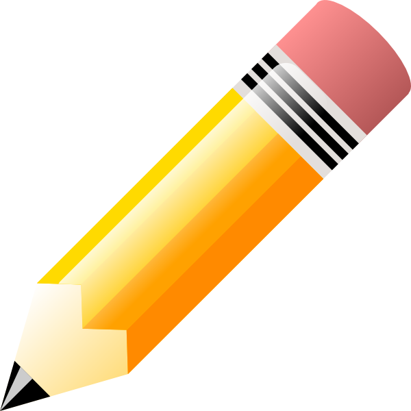Animated pencil clip art clipart image 1.