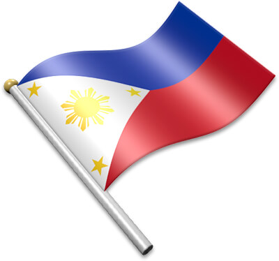 Flag Icons of Philippines.
