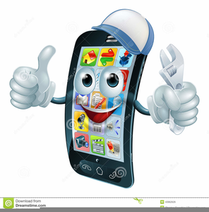 Animated Mobile Phone Clipart.