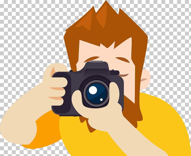Photographer Photography, cartoon male photographer PNG.