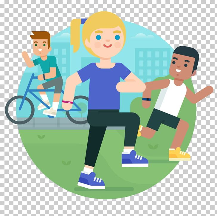 Fitbit Activity Tracker Cartoon Physical Fitness PNG.