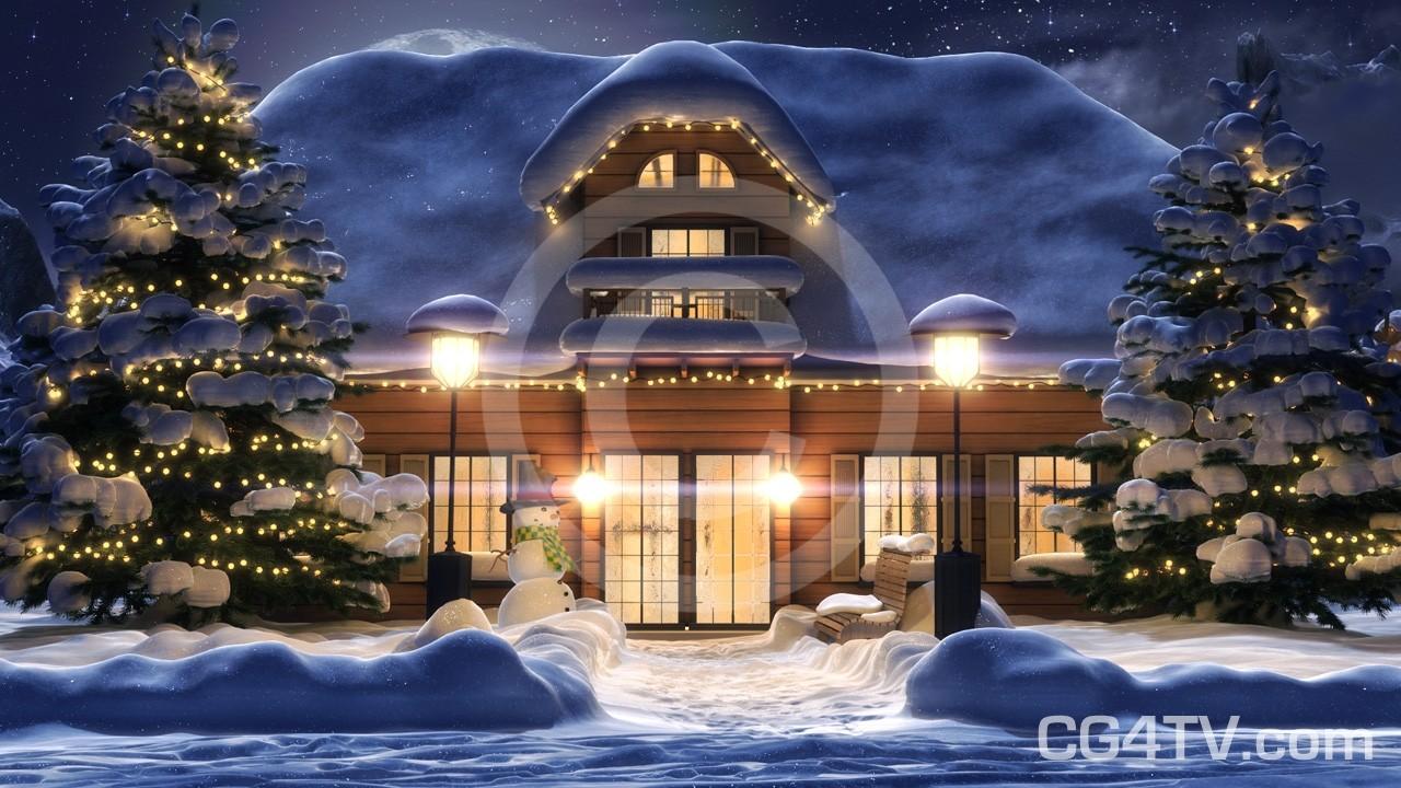 Full HD 1080p 3D Animated Christmas Card.