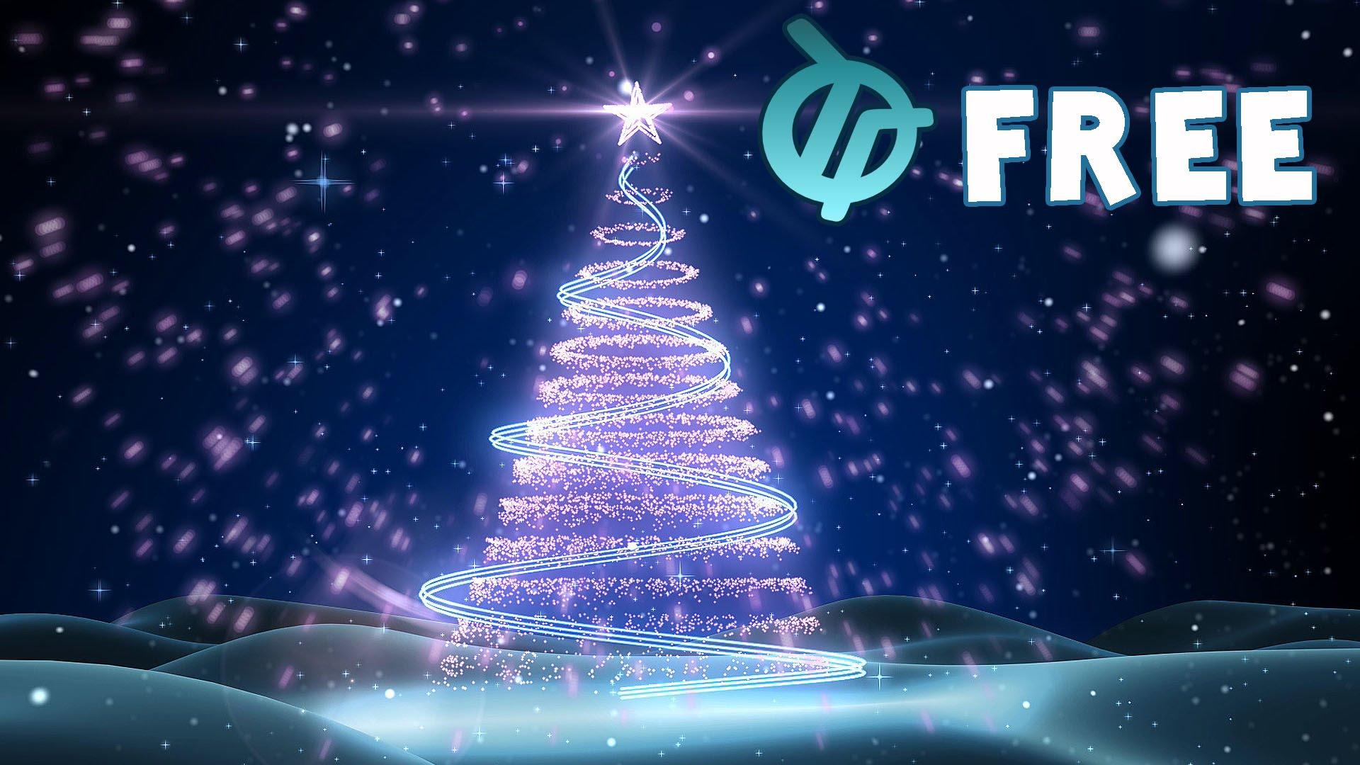 Free Christmas Tree Background Animation.