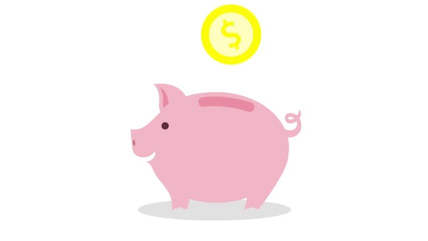 985 Piggy Bank free clipart.