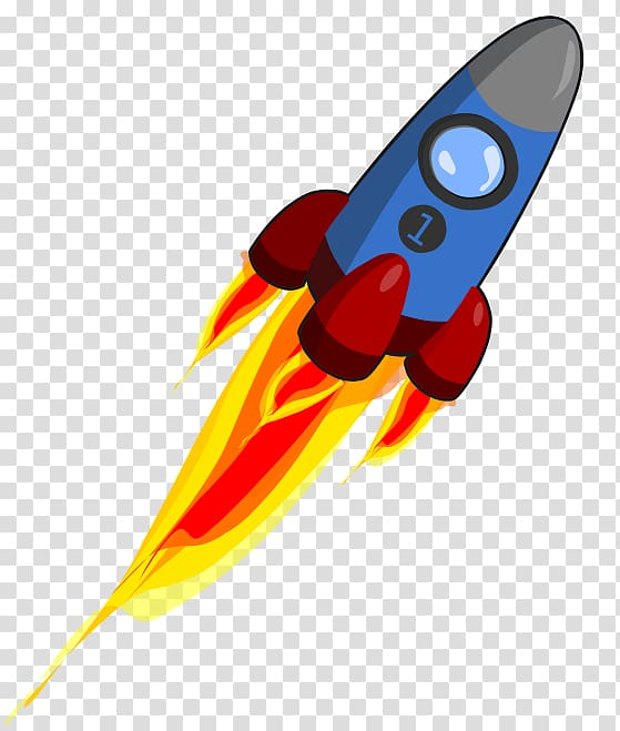 Flying blue and red space shuttle, Animation Rocket , Rocket.