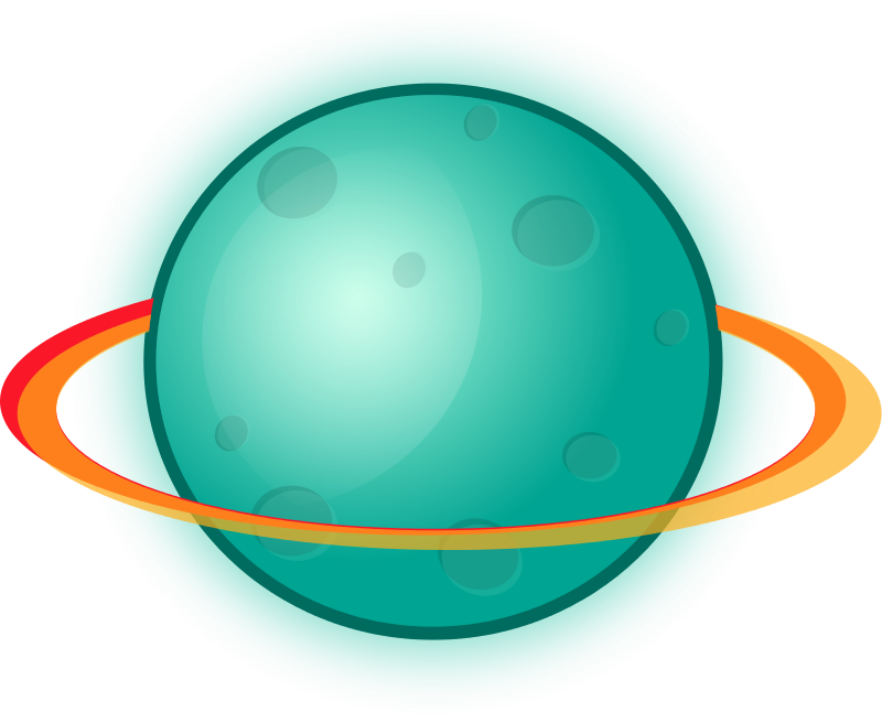 Animated planets clipart.