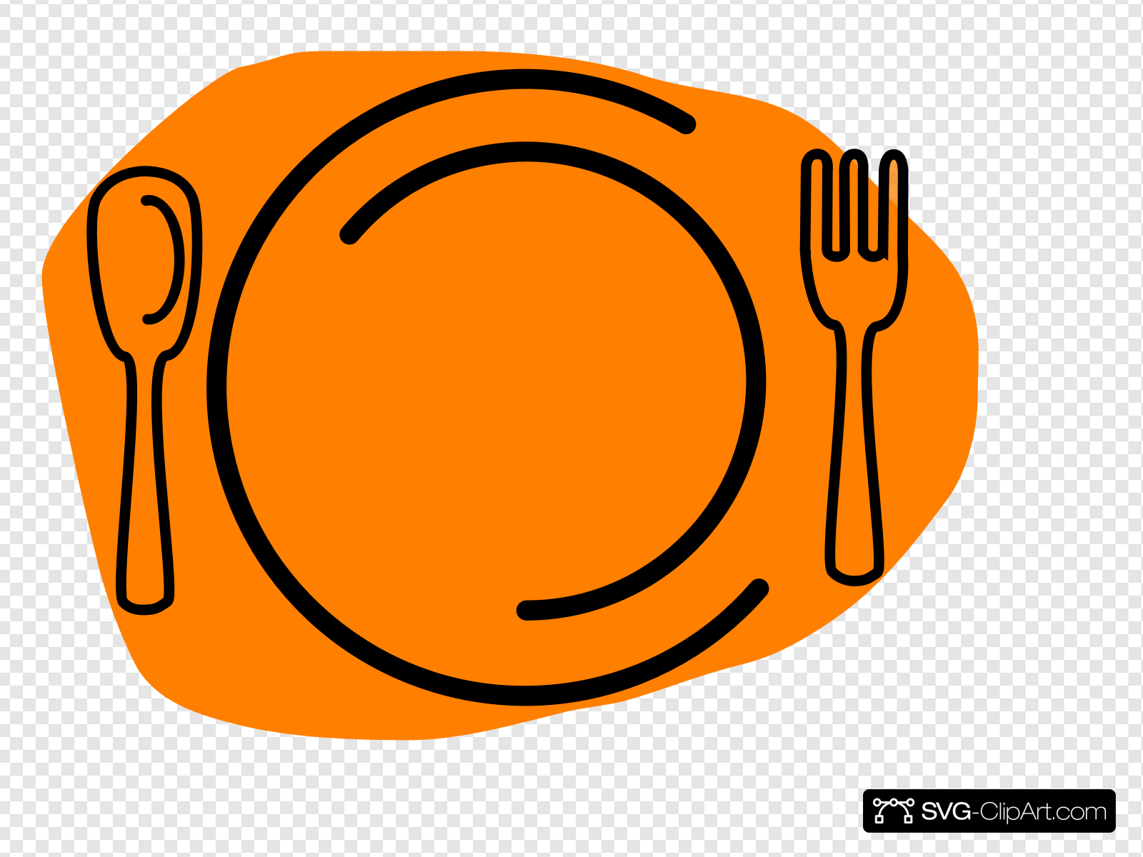 Dinner Plate Clip art, Icon and SVG.