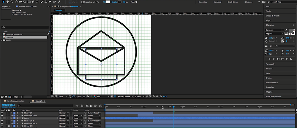 How to Create an Animated Envelope in After Effects.