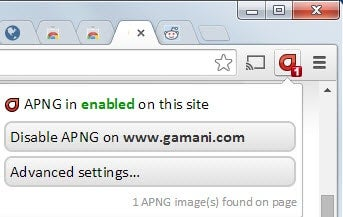 How to add animated png (apng) support to Google Chrome.