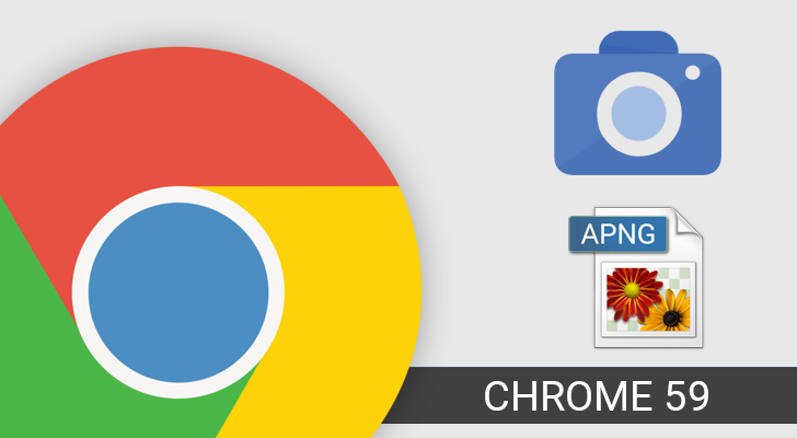 Chrome 59 adds Animated PNG support, a new Image Capture API, and.