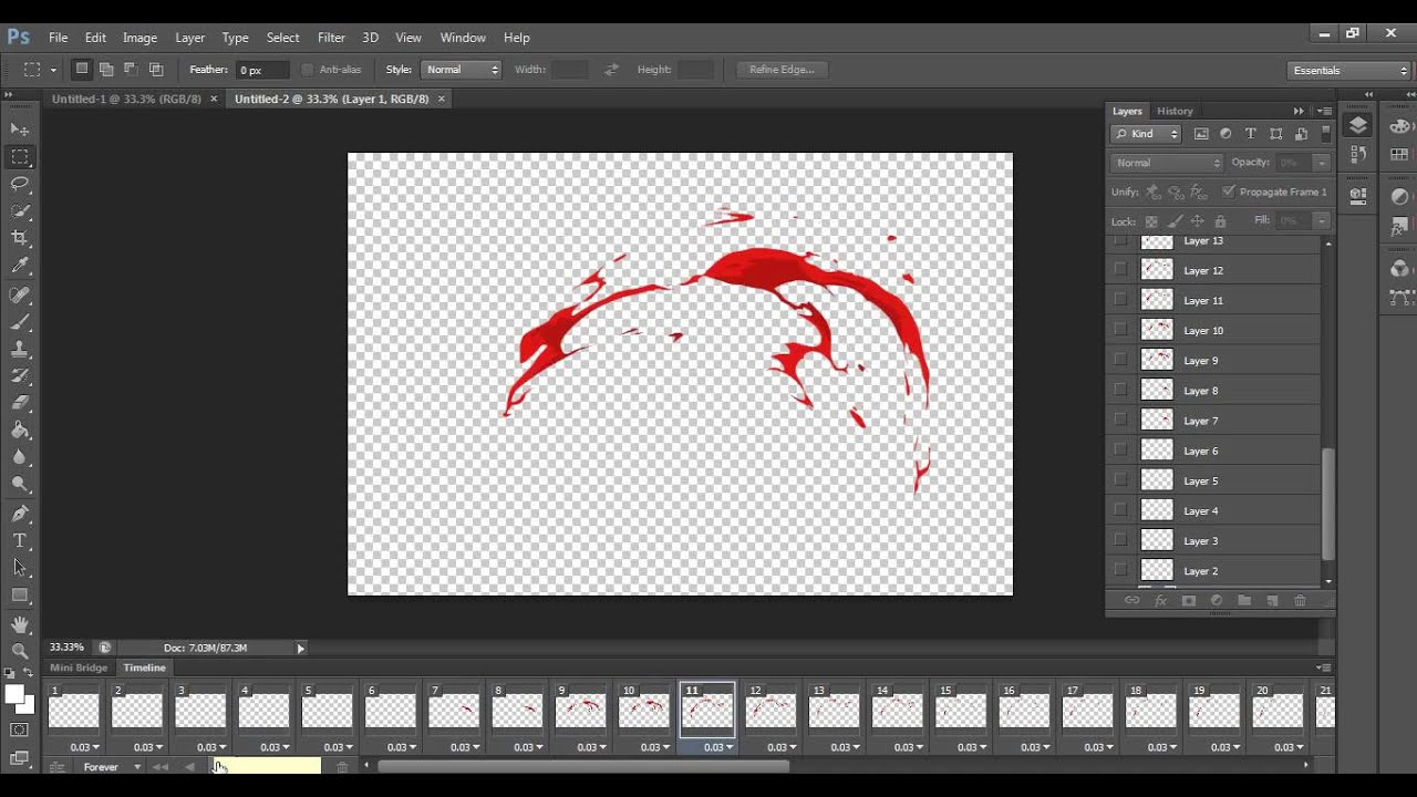 how to create png animation sequences in photoshop.