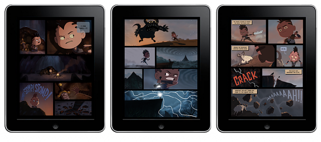 The first fully animated 2d Comic book only on iPad!.