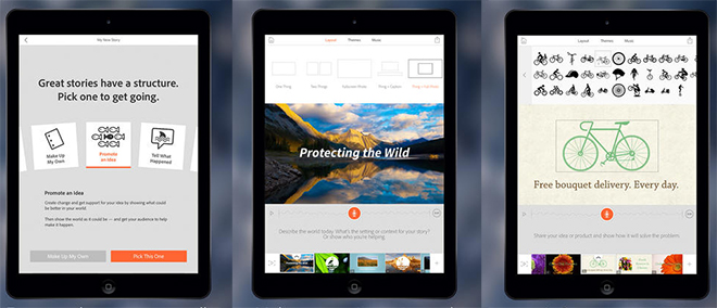 Adobe Voice for iPad combines user narration and simple animations.
