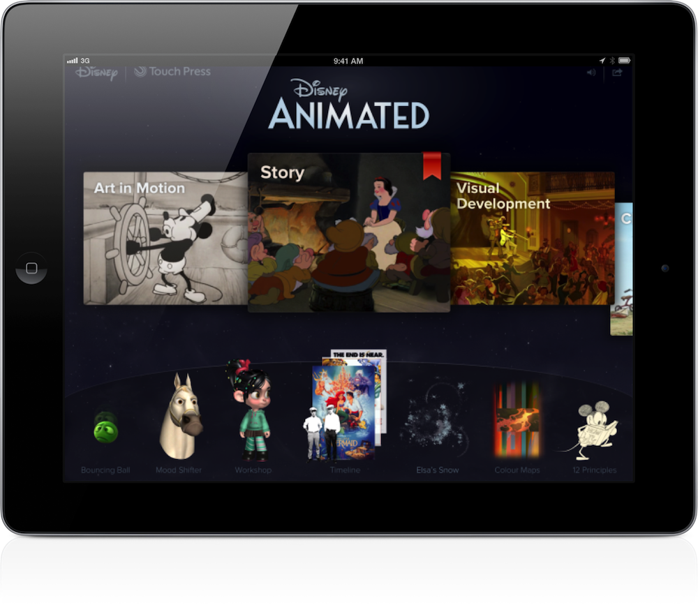 New Disney Animated App For iPad Offers The Complete Story On All 53.