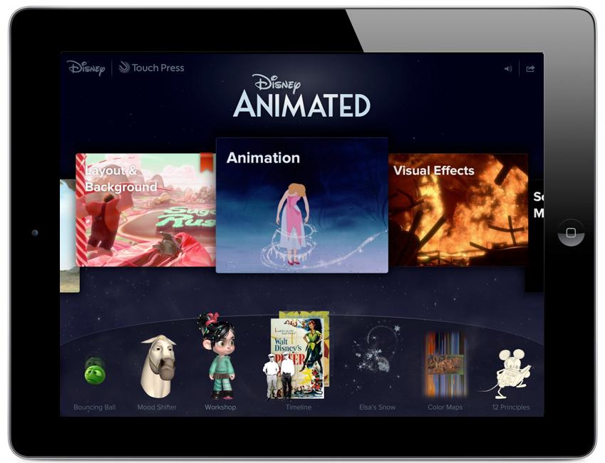 Disney Animated App For iPad.