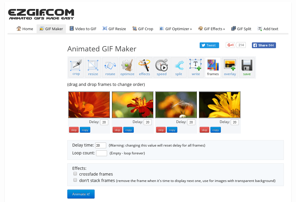 Animated PNG (APNG) Maker.