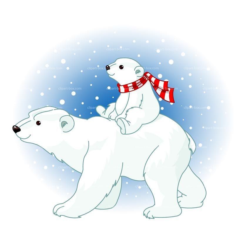 Polar Bear Clipart Polar Bears Love Snow Clipart Christmas.