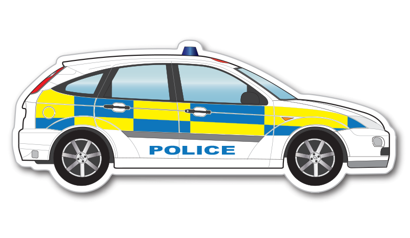 British Police Car Clipart.