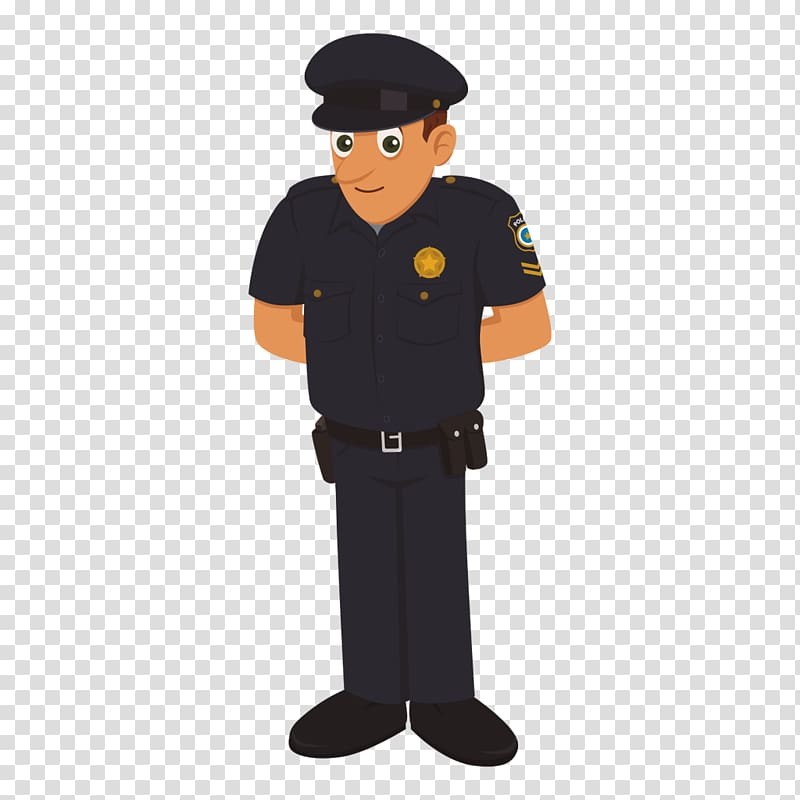 Police officer Cartoon Traffic police, police characters.