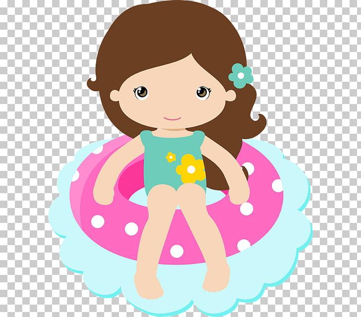 Swimming pool Party Girl , praia, animated girl in bikini.
